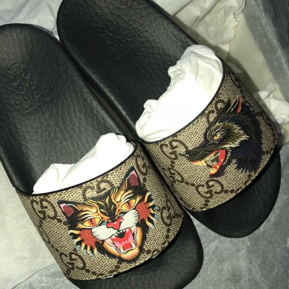 e8b541bbe25b6 Gucci slides toddler size 27